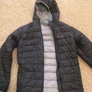 Grey Columbia puffer coat
